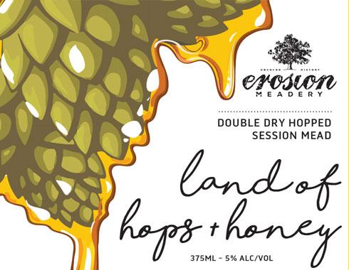 Erosion Land of Hops label