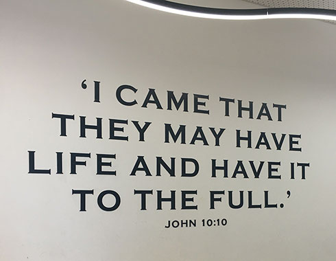 Holy Cross College quote