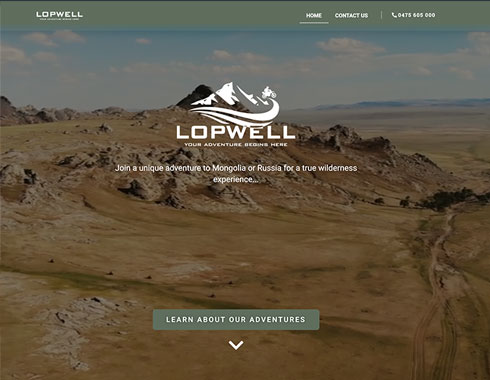 Lopwell Adventure website