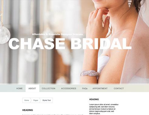 Chase Bridal website